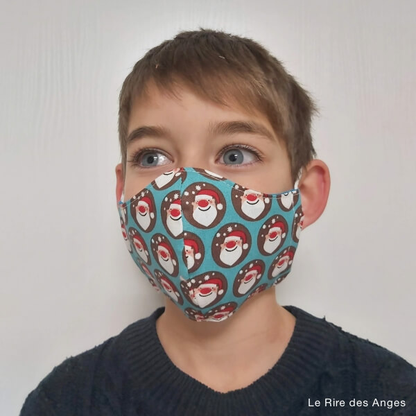 pere noel masque enfant