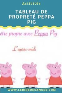 tableau de proprete peppa pig à imprimer