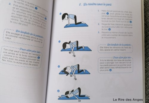posture de yoga illustree
