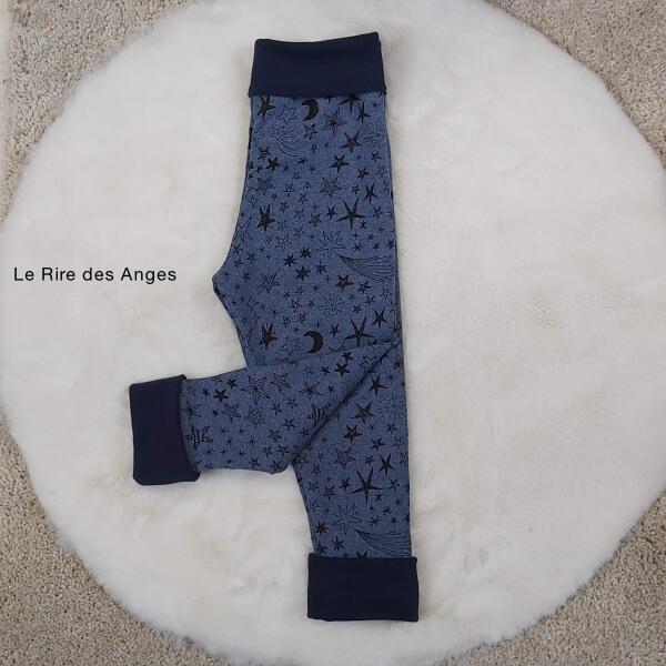 pantalon evolutif lune etoile enfant