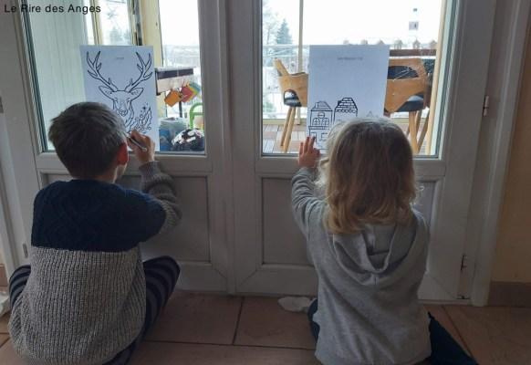 dessin à reproduire sur les fenêtres