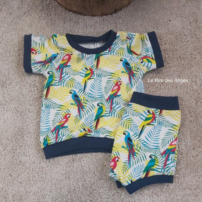 perroquet ensemble short tshirt