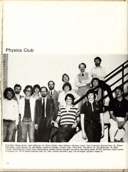 Physics Club UNCC circa 1975