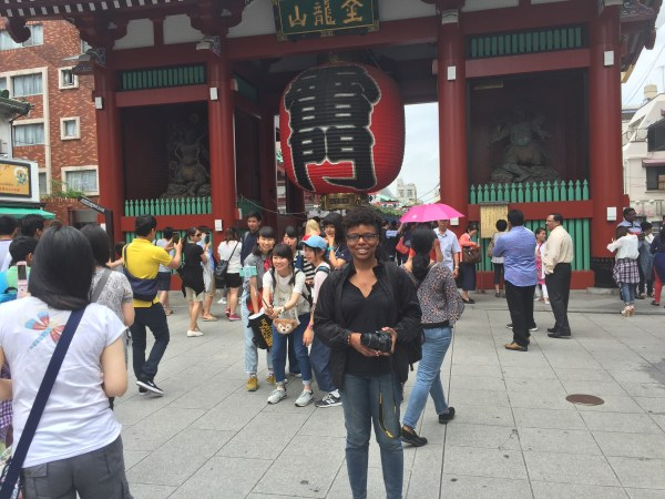 In front of the Sensoji in Asakusa