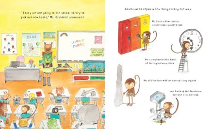 Monkey with a Tool Belt and the Silly School Mystery spread