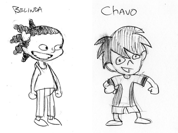 character sketches for Game for Adventure wordless graphic novels