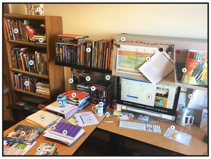 art director's desk