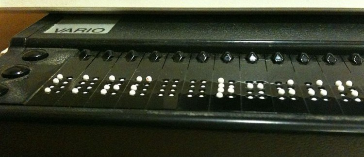Refreshable braille display that can be used to read ebooks for accessibility - a11y