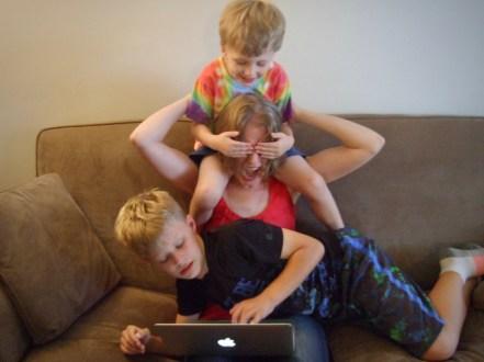 photo of Carol Hinz with her kids