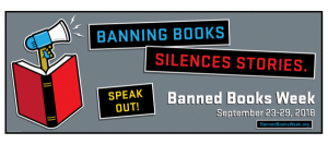 Banned Books Week Artwork courtesy of the American Library Association, www.ala.org