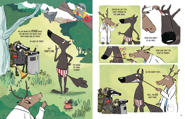 Spread from The Wolf in Underpants