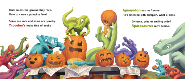 Spread from Dino-Halloween