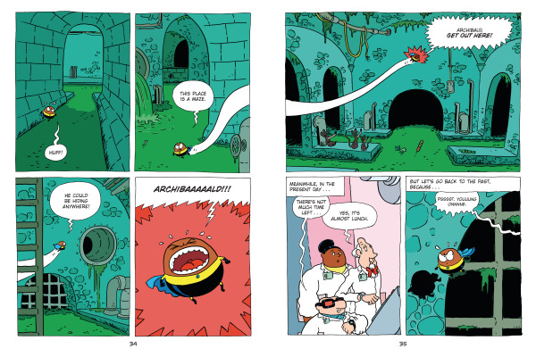 Spread from Super Potato's Mega Time-Travel Adventure