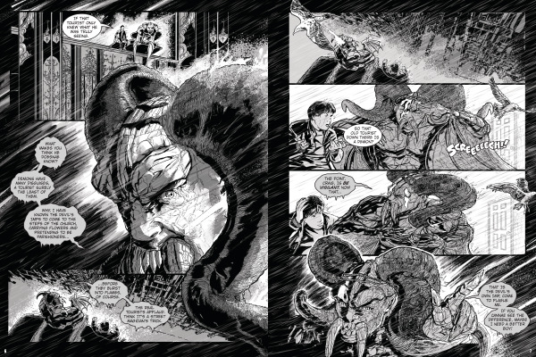 Spread from Breaking Out the Devil