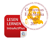 """Der IntraActPlus-Lese-App """"Lesen lernen nach IntraActPlus"""" wurde das Comenius-EduMedia-Siegel 2017 von der wissenschaftlichen Fachgesellschaft für Bildungsmedien, Bildungstechnologie und Mediendidaktik verliehen."""