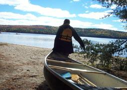 A last paddle on Grant Lake.