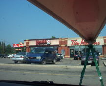 The Wendy's in Renfrew that we stop at as tradition for a break and a taco salad & a number four with no onions.