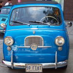 A 1959 blue Fiat something.
