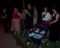 The gang watching the fireworks.