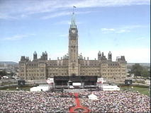 Some of the 75,000 people who attended the festivities on Parliament Hill. [12:36pm]