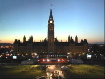 Last minute preperations for Canada Day continue well into the night before. [June 30 9:30pm]