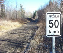 I'll try to keep it under 50 km/hr - walking.