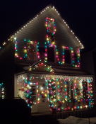 This house has music as well as lights!
