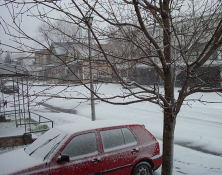 First snow of the 2003/2004 winter season.
