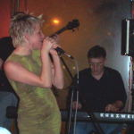 Crystal singing and Steve on keyboards.