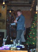Kilbride on stage upstairs at Patty's.
