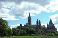 A view of Parliament Hill in Ottawa, taken summer 2002.