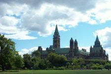 A view of Parliament Hill in Ottawa, taken summer 2002.
