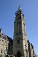 The Peace Tower is really quite tall.