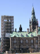 The west block.. Being fixed up.