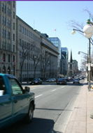 A view West down Rideau Street.