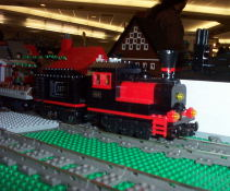 A lego steam engine.