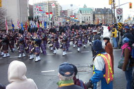 Air Command Pipes and Drums band.