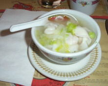 We got off the Rideau Canal to stop at Peach Gardens for supper.   I love won-ton soup!