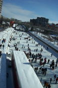 Lots of people on the Rideau Canal.