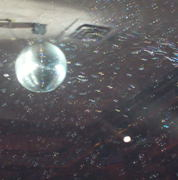Disco ball & bubbles!  BUBBLES!