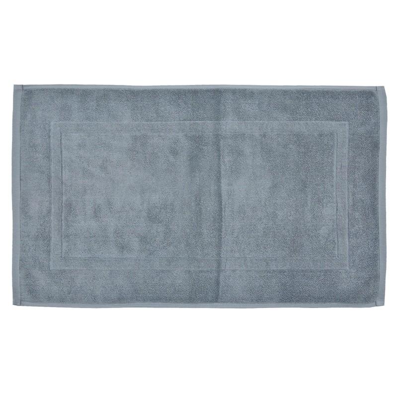 tapis de bain gris 80x50 cm terry 100 coton garantie 1 an