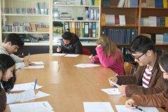 Alguns dos alunos participantes no Concurso de Leitura