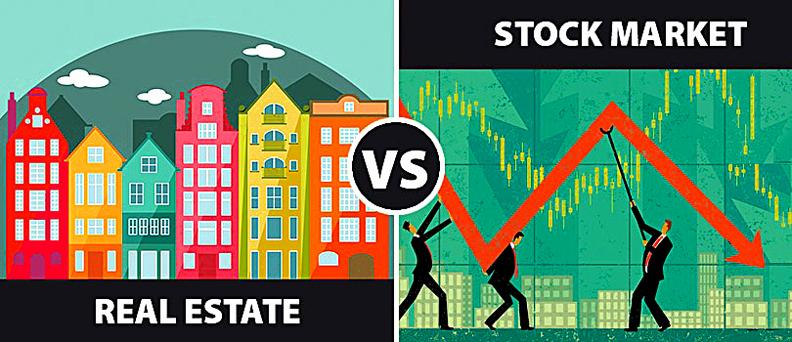 real estate better than stocks