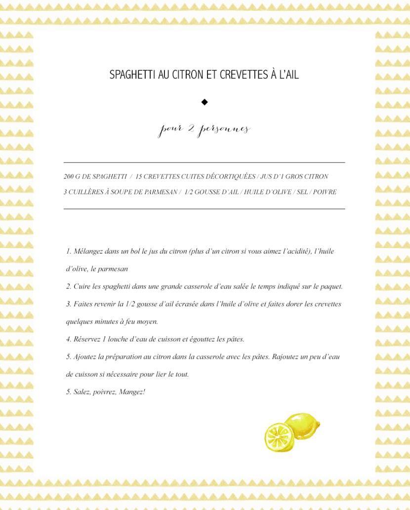 Spaghetti au citron Les Bichettes