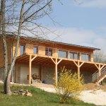 terrasse en bois construite par les Charpentiers montbardois à Montbard