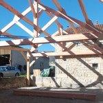 construction d'un préau à chemin d'aisey réalisée par les Charpentiers montbardois à Montbard