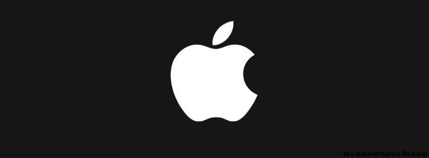 apple-logo-blanc-photo-de-couverture-journal-facebook