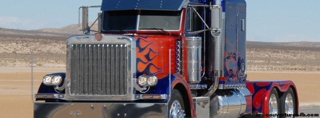 Camion monster truck - Photo de couverture journal facebook