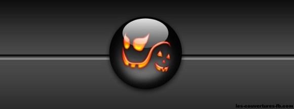 Boule noir Halloween - Photo de couverture journal Facebook