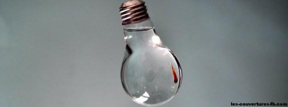 ampoule eau-photo de couverture journal facebook